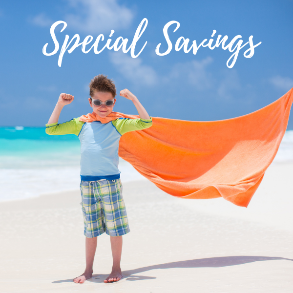 Special Savings on Vacation Rentals